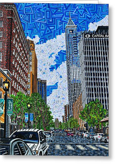 Fayetteville Greeting Cards - Downtown Raleigh - Fayetteville Street Greeting Card by Micah Mullen