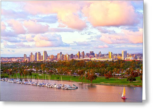 Gift Ideas For Her Greeting Cards - Downtown San Diego  Greeting Card by Gigi Ebert
