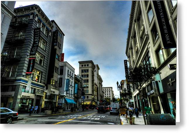Downtown San Francisco Greeting Cards - Downtown San Francisco 002 Greeting Card by Lance Vaughn