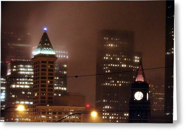 Keith Rautio Greeting Cards - Downtown Seattle Greeting Card by Keith Rautio