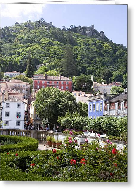 Recently Sold -  - Roadway Greeting Cards - Downtown Sintra Portugal Greeting Card by Jim  Wallace