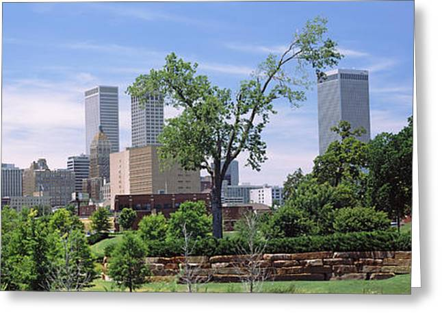 Downtown Skyline From Centennial Park Greeting Card by Panoramic Images