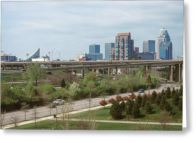 Jefferson Greeting Cards - Downtown Skyline, Louisville, Kentucky Greeting Card by Panoramic Images