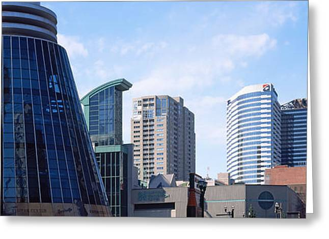 Nashville Panorama Greeting Cards - Downtown Skylines Of Nashville Greeting Card by Panoramic Images