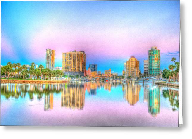 St Petersburg Florida Greeting Cards - Downtown St. Petersburg Greeting Card by Zane Kuhle