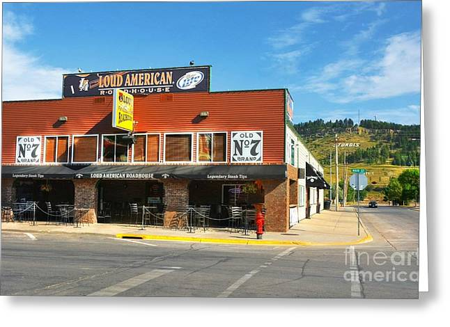 Rally Greeting Cards - Downtown Sturgis 3 Greeting Card by Mel Steinhauer