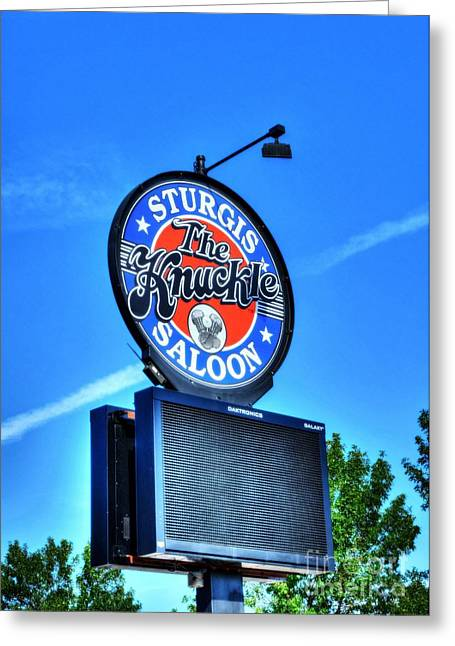 Rally Greeting Cards - Downtown Sturgis 6 Greeting Card by Mel Steinhauer