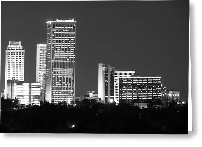 Oklahoma Greeting Cards - Downtown Tulsa Oklahoma Greeting Card by Gregory Ballos