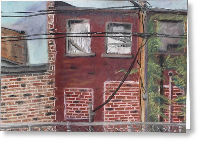 Downtown Pastels Greeting Cards - Downtown Warrensburg Greeting Card by Billy Granneman