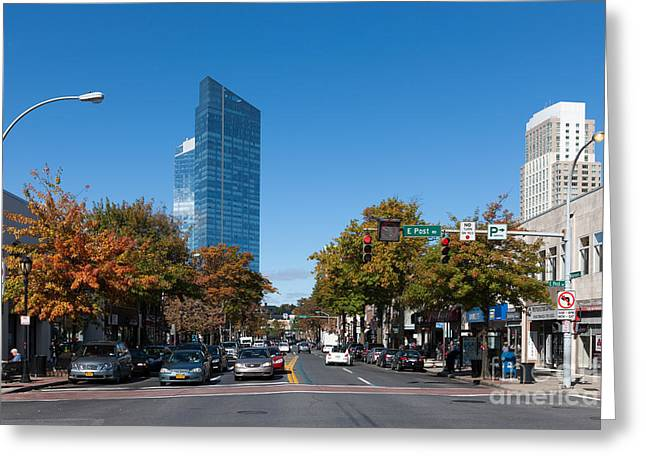 Recently Sold -  - Residential Structure Greeting Cards - Downtown White Plains New York III Greeting Card by Clarence Holmes