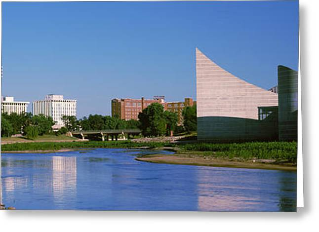 Arkansas Greeting Cards - Downtown Wichita Viewed From The Bank Greeting Card by Panoramic Images