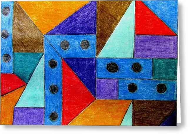 Blueberries Drawing Greeting Cards - Downtown Greeting Card by Will Boutin Photos