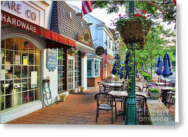 Hardware Greeting Cards - Downtown Worthington Greeting Card by Jack Schultz