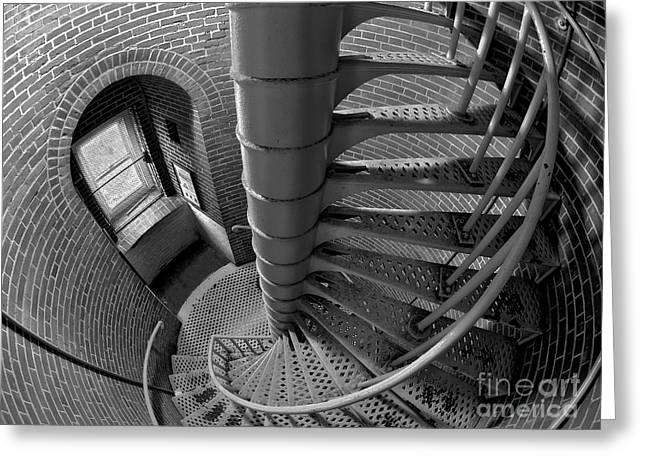 Lbi Greeting Cards - Downward Spiral Greeting Card by Mark Miller