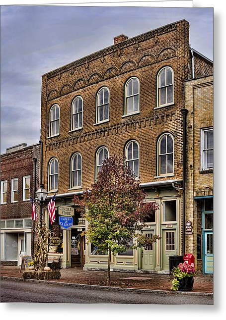 Historic Country Store Greeting Cards - Dowtown General Store Greeting Card by Heather Applegate