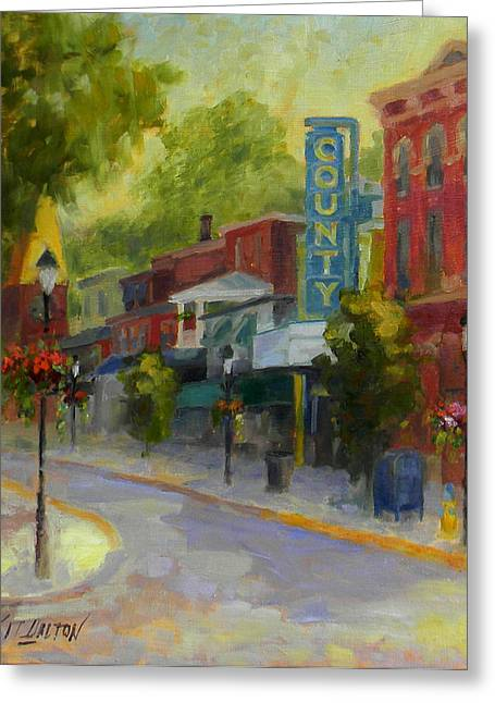 Theater Greeting Cards - Doylestown County Theater Greeting Card by Kit Dalton