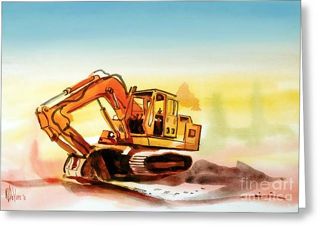 Dozer Greeting Cards - Dozer October Greeting Card by Kip DeVore