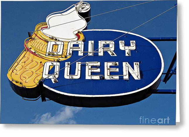 Dq Cone Sign Greeting Card by Ethna Gillespie