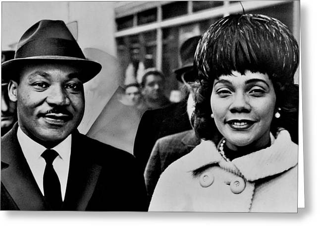Black History Greeting Cards - Dr and Mrs King Greeting Card by Benjamin Yeager