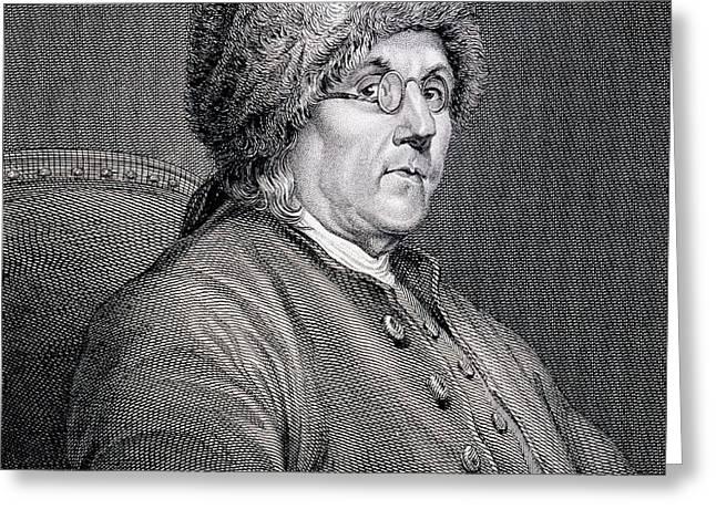 Dr Benjamin Franklin Greeting Card by English School