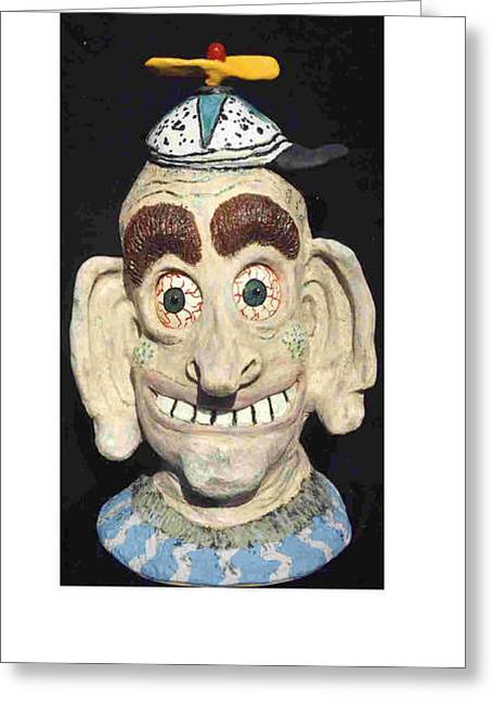 Most Sculptures Greeting Cards - Dr. Boing Boing Greeting Card by Charles Spillar