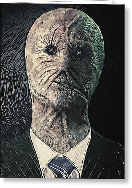 Horror Fantasy Movies Greeting Cards - Dr. Decker Greeting Card by Taylan Soyturk