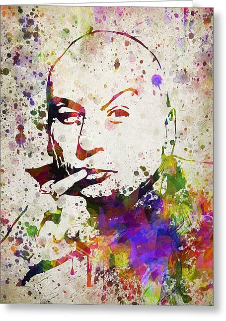 Austin Powers Greeting Cards - Dr Evil in Color Greeting Card by Aged Pixel