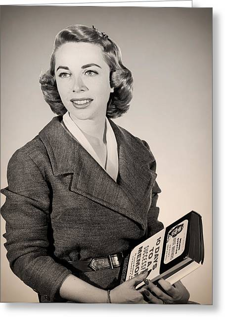 Publicity Shot Photographs Greeting Cards - Dr Joyce Brothers 1959 Greeting Card by Mountain Dreams