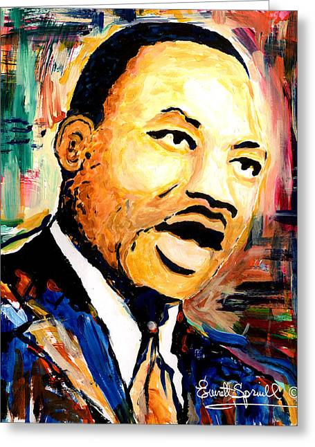 Dr. Martin Luther King Jr Greeting Card by Everett Spruill
