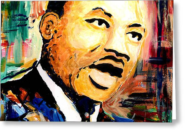 Romare Bearden Greeting Cards - Dr. Martin Luther King Jr Greeting Card by Everett Spruill