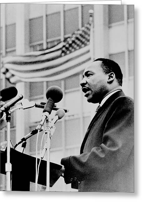Black History Greeting Cards - Dr Martin Luther King Jr Greeting Card by Benjamin Yeager