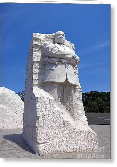 Washington Memorial Greeting Cards - Dr Martin Luther King Memorial Greeting Card by Olivier Le Queinec