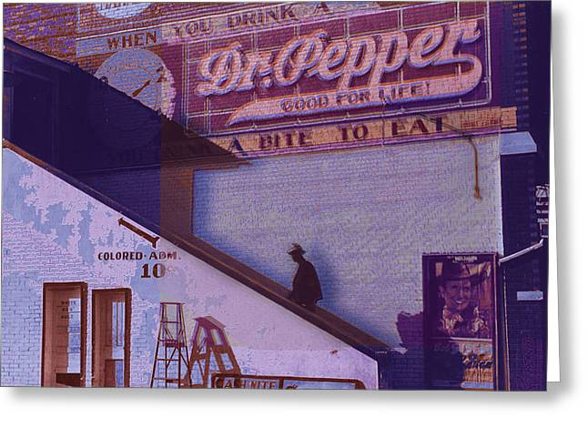 Interior Scene Mixed Media Greeting Cards - Dr Pepper Blues The Way It Was Greeting Card by Tony Rubino