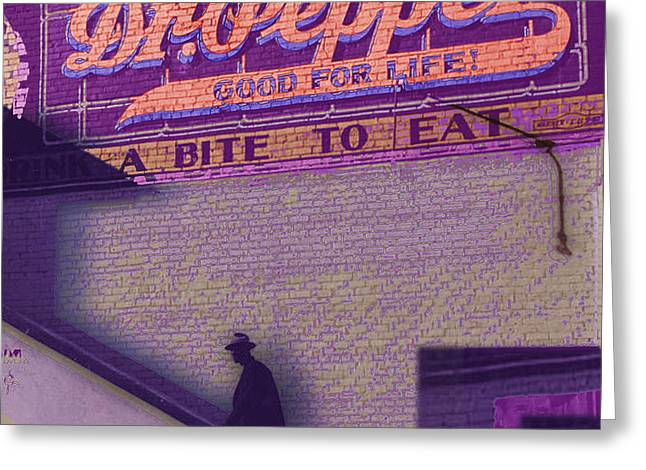Dr Pepper Blues Greeting Card by Tony Rubino