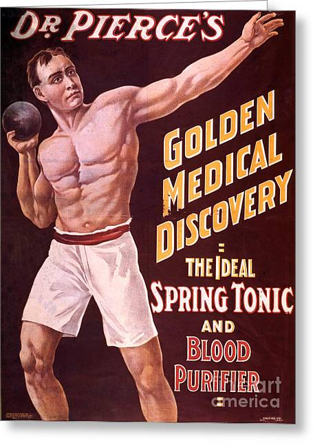 Science And Medicine Greeting Cards - Dr Pierces Spring Tonic And Blood Greeting Card by Science Source