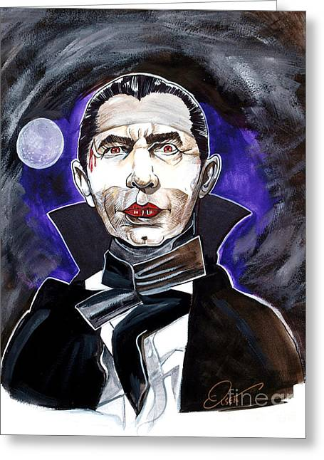 Classic Horror Greeting Cards - Dracula Bela Lugosi Greeting Card by Dave Olsen