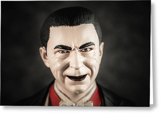 Universal Monsters Greeting Cards - Dracula - Bela Lugosi Greeting Card by Marco Oliveira