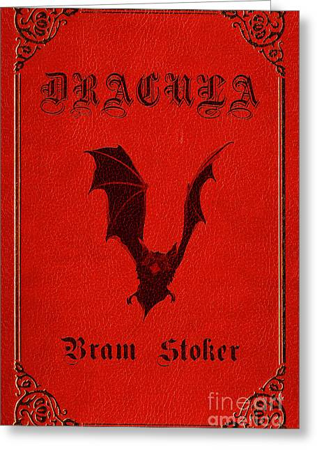 Book Jacket Greeting Cards - Dracula Book Cover Poster Art 1 Greeting Card by Nishanth Gopinathan