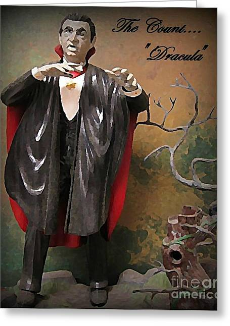 Dracula Model Kit Greeting Card by John Malone