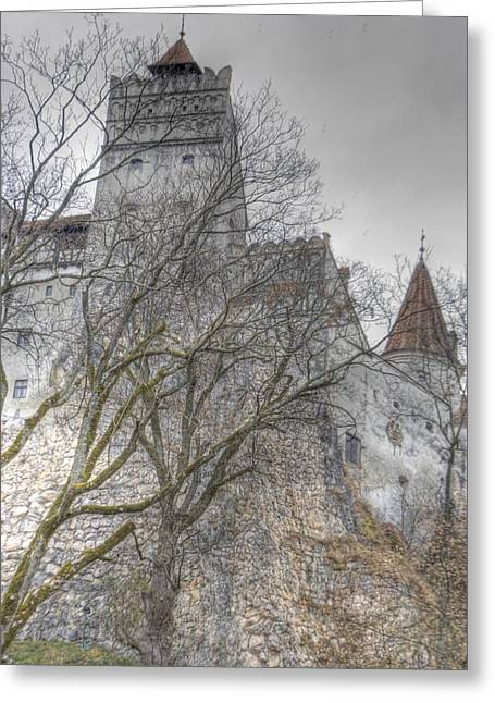 Frightening Castle Greeting Cards - Draculas Castle Greeting Card by Matthew Bamberg