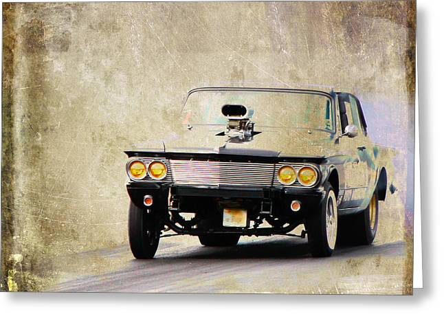 Graffitti Coupe Greeting Cards - Drag Time Greeting Card by Steve McKinzie