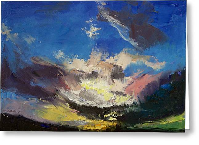 Dragon Cloud Greeting Card by Michael Creese