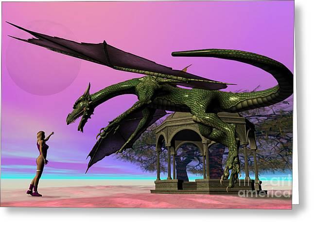 Dragon Greeting Card by Corey Ford