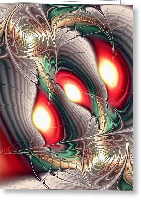 Deviant Greeting Cards - Dragon Den Greeting Card by Anastasiya Malakhova