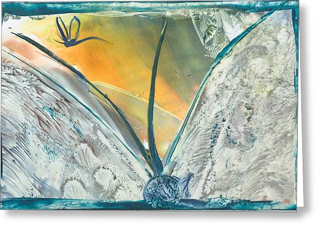 Cocoon Mixed Media Greeting Cards - Dragon Fly Emerges Greeting Card by Trish Tinsley