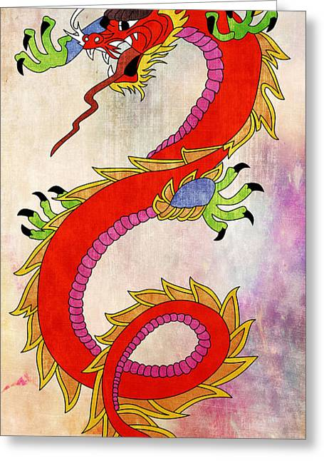 Tatoo Greeting Cards - Dragon  Greeting Card by Mark Ashkenazi