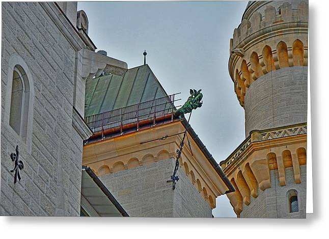 Allegoric Greeting Cards - Dragon. Neuschwanstein Castle. Bavaria. Germany. Greeting Card by Andy Za