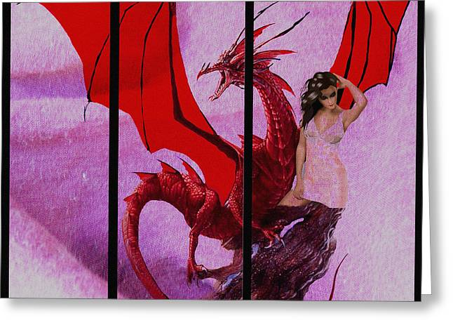 Dragon Power-featured In Comfortable Art Group Greeting Card by EricaMaxine  Price