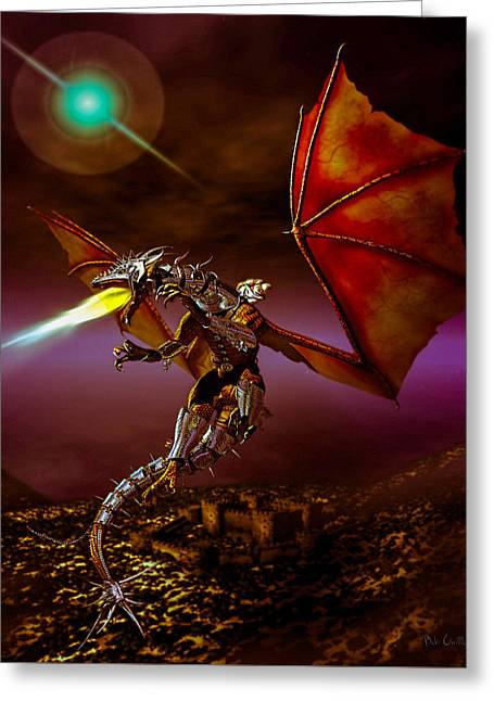 Princes Digital Greeting Cards - Dragon Rider Greeting Card by Bob Orsillo