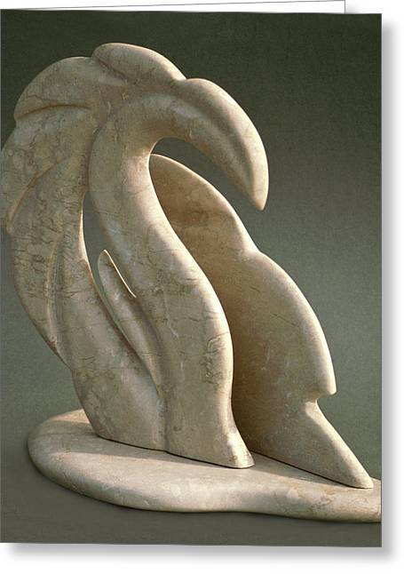 Marble Sculptures Greeting Cards - Dragon Wave Greeting Card by Lonnie Tapia